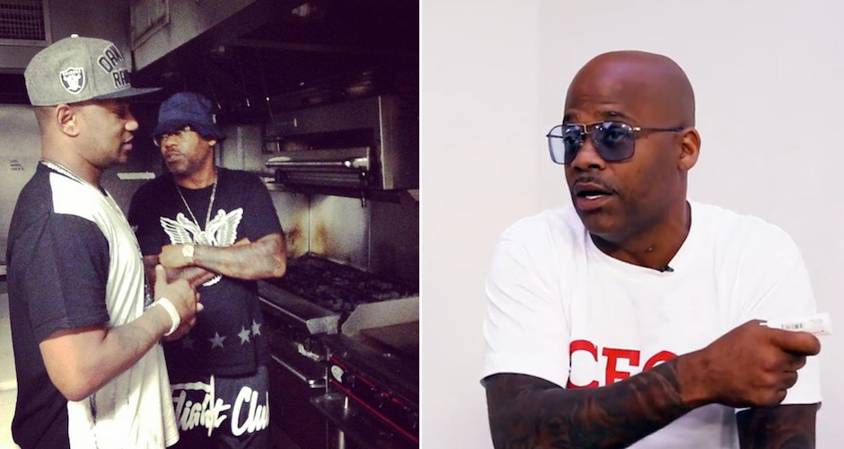 Damon Dash in the kitchen, via First We Eat and Damon Dash's Instagram